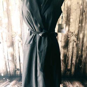 CALVIN KLEIN WRAP DRESS, NWT